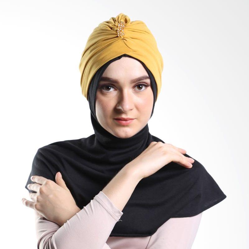 Tiras Turban Permata Besar Tangerine Hijab