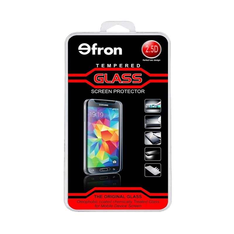 Efron Glass Tempered Glass Screen Protector for IPHONE 5 / 5S [Depan Belakang Clear/2.5D]