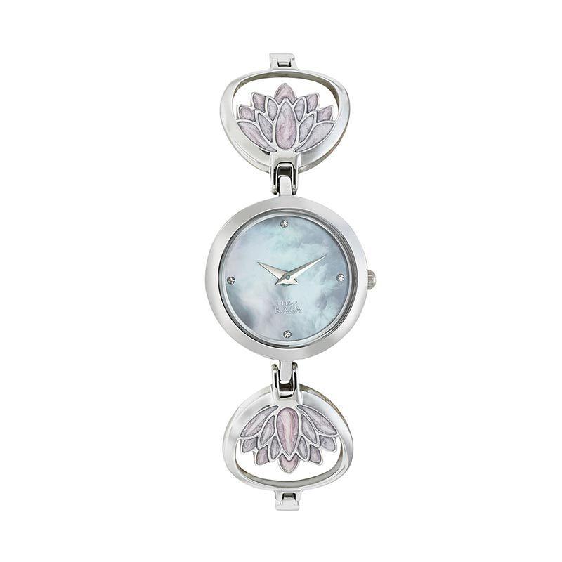 Titan Raga Edge of Garden 2540SM01 Silver Bracelet Jam Tangan Wanita