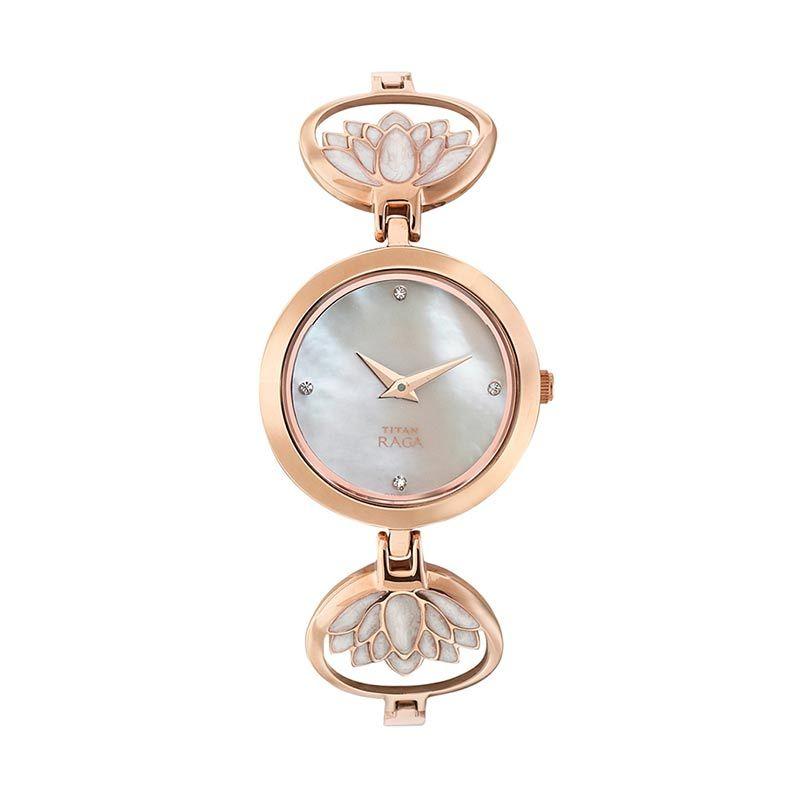 Titan Raga Edge of Garden 2540WM01 Rose Gold Bracelet Jam Tangan Wanita
