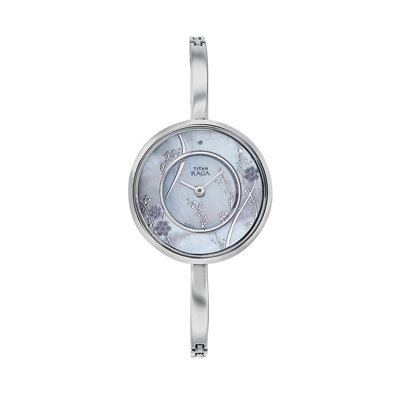 Titan Raga Edge of Garden 2541SM01 Silver Bracelet Jam Tangan Wanita