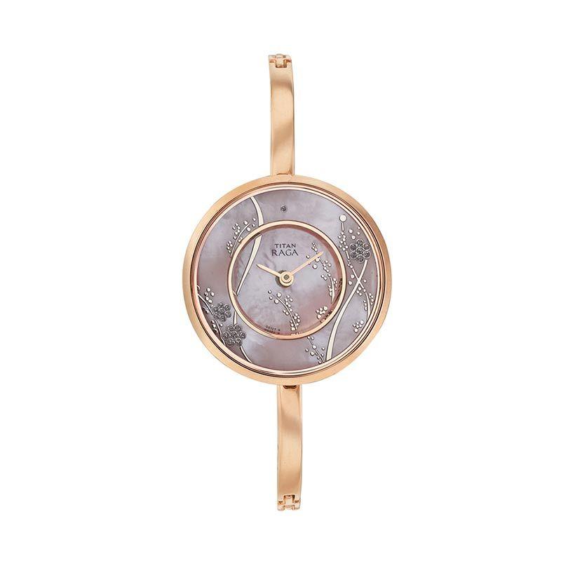 Titan Raga Edge of Garden 2541WM01 Rose Gold Bracelet Jam Tangan Wanita