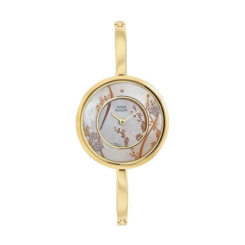 Titan Raga Edge of Garden 2541YM01 Gold Bracelet Jam Tangan Wanita