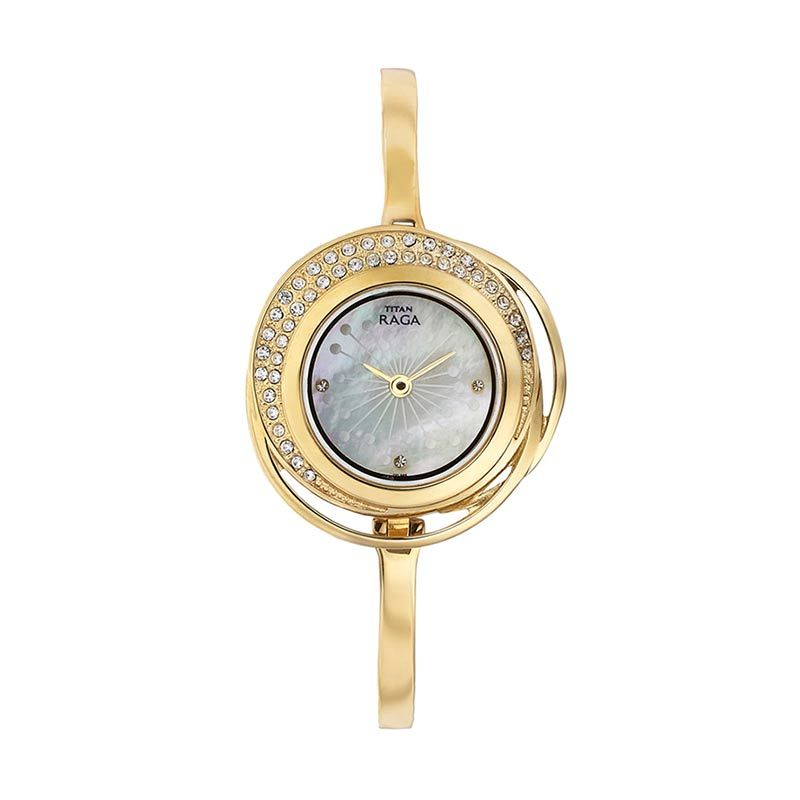 Titan Raga Edge of Garden 95003YM01 Gold Bracelet Jam Tangan Wanita