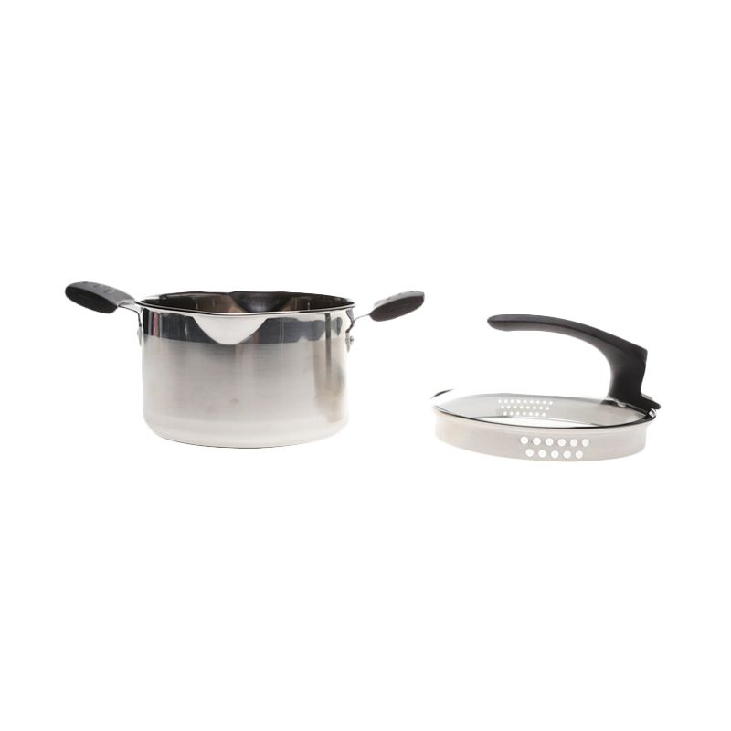Happy Chef Soup Pot Filter Lid Stainless Steel Panci [24 cm]