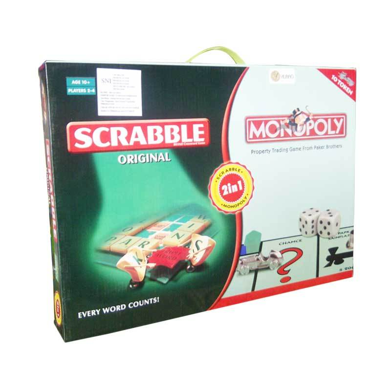 TMO Monopoly 2in1 With Scrabble Mainan Anak