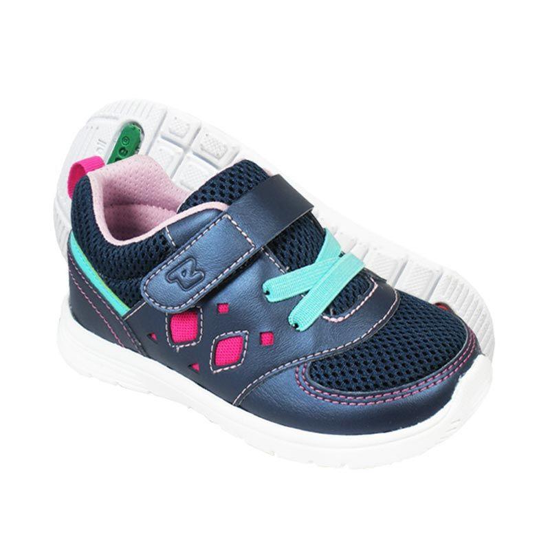 Toezone Kids Brazil 2 Navy Pink Sepatu Anak