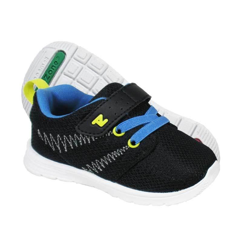 ToeZone Kids Boston Black Blue Sepatu Anak Laki-laki