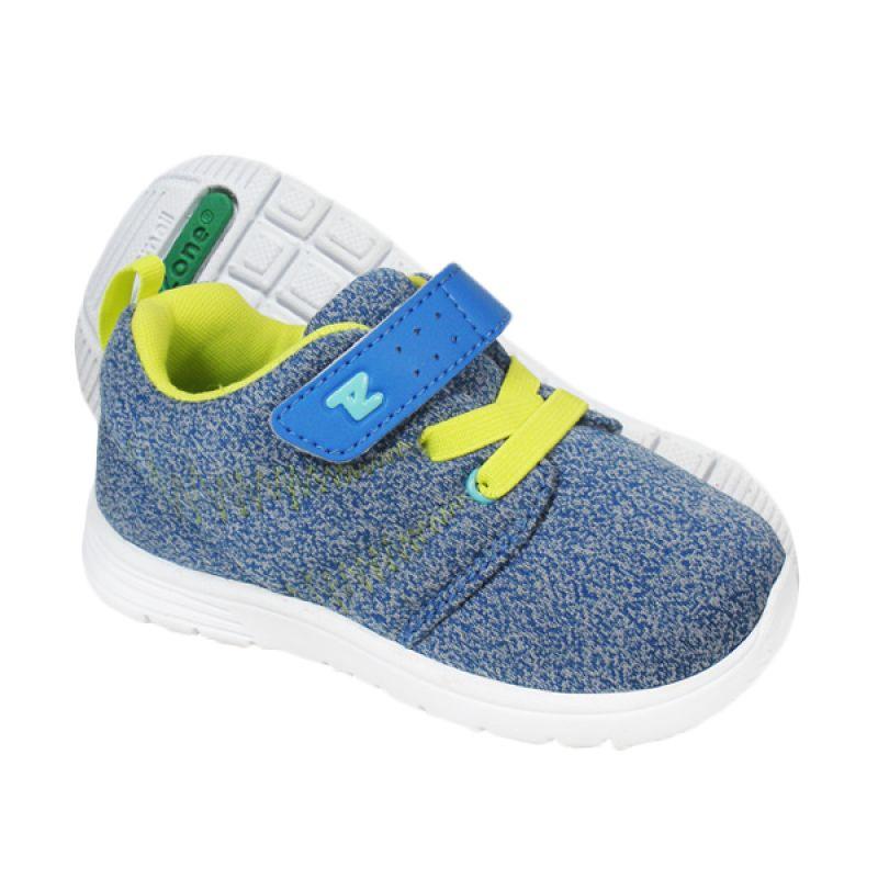 ToeZone Kids Boston Blue Lime Sepatu Anak Laki-laki