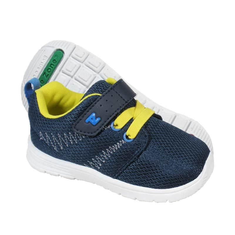 ToeZone Kids Boston Navy Yellow Sepatu Anak Laki-laki