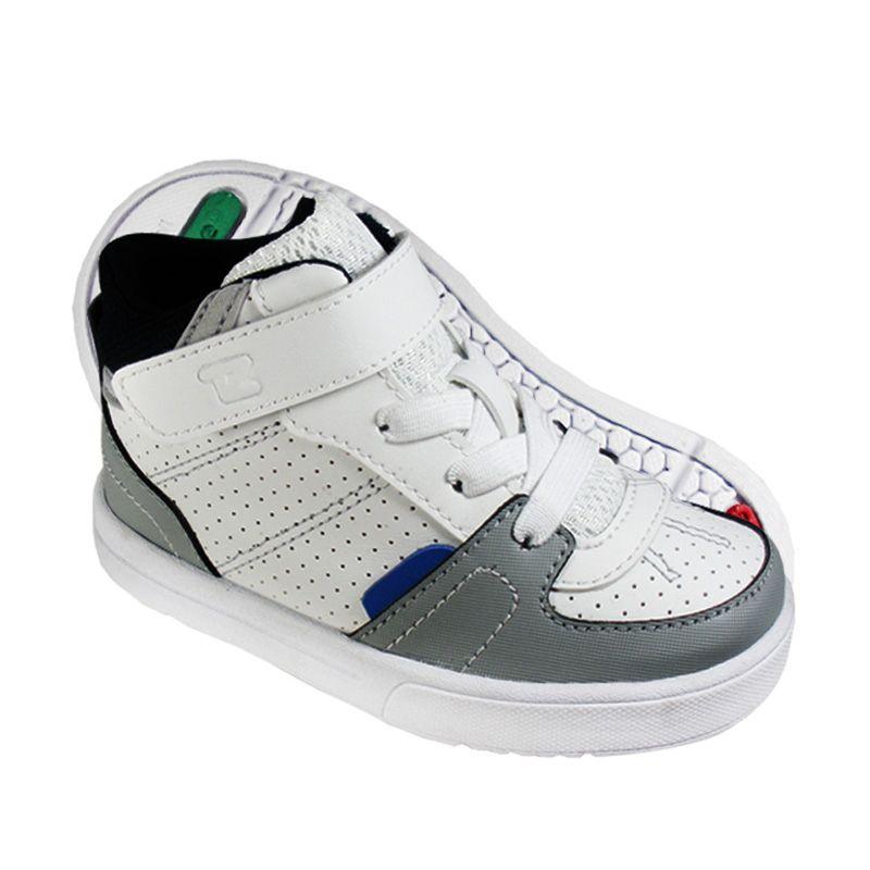 ToeZone Kids Bradley White Navy Sepatu Anak