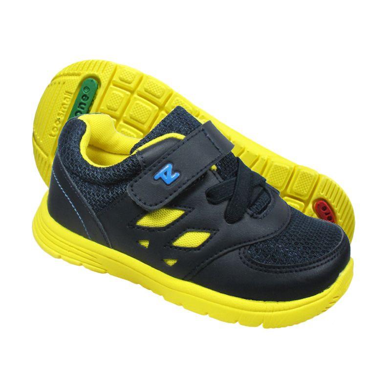 ToeZone Kids Brazil Navy Yellow Sepatu Anak Laki-Laki