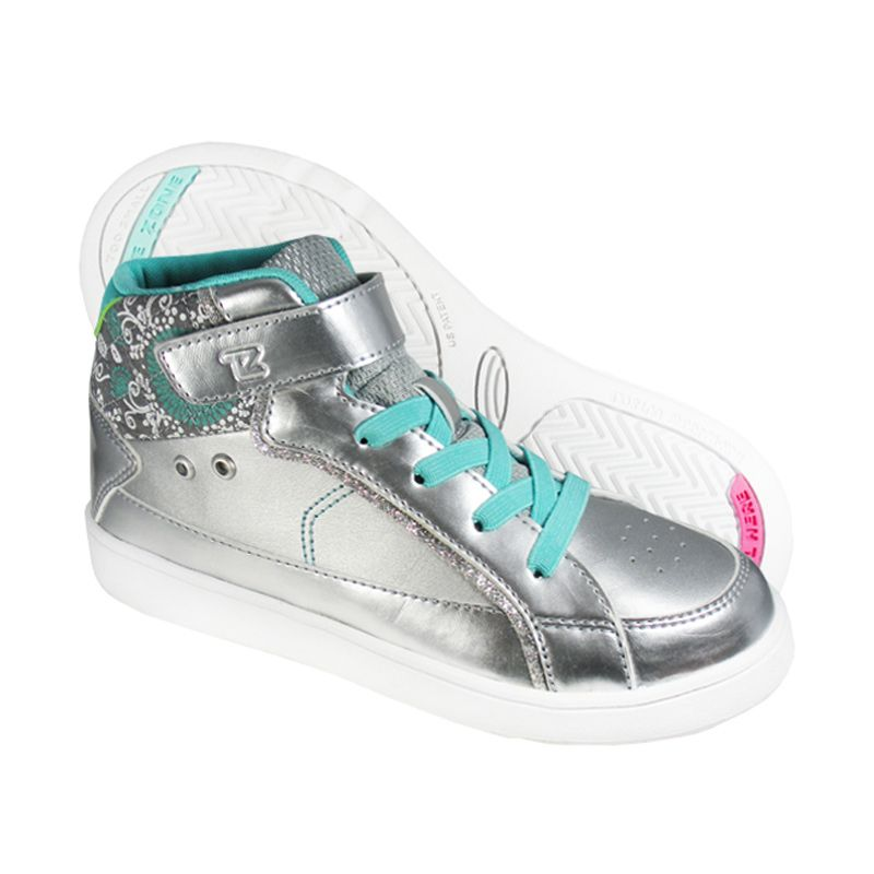 Toezone Kids Brooke Kid Silver Aqua Sepatu Anak Perempuan