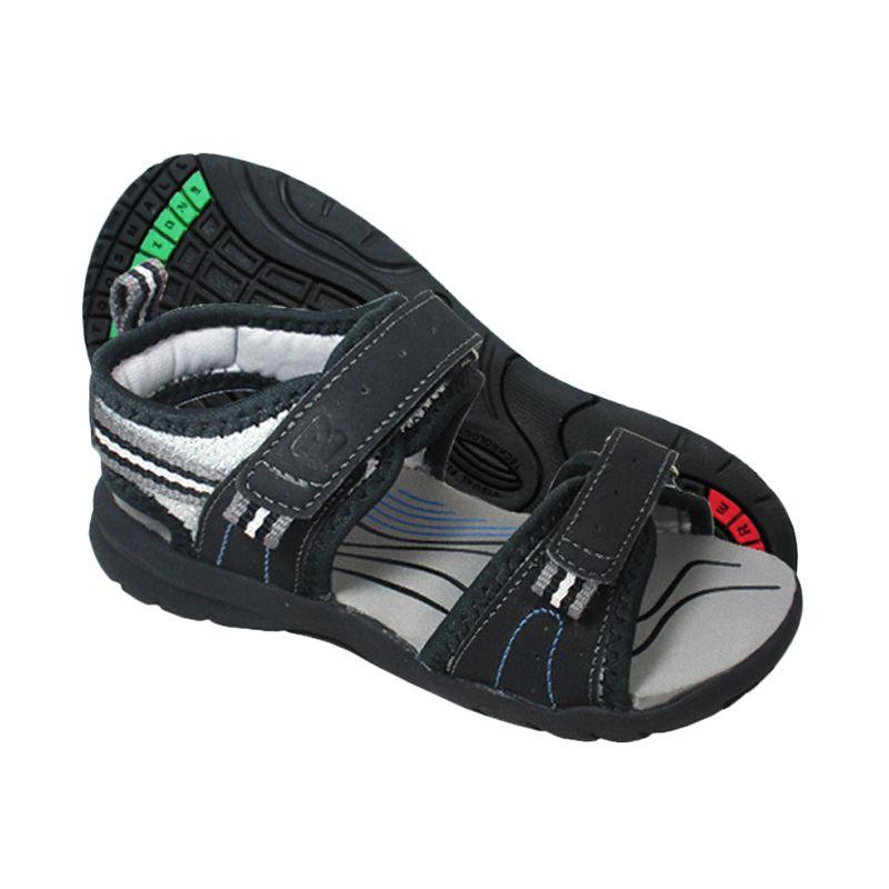 ToeZone Kids Darwin Black Grey Sepatu Sandal Anak