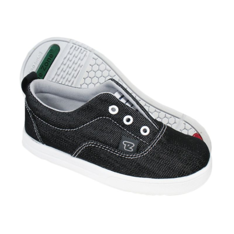 ToeZone Kids Hampton Black Grey Sepatu Anak Laki-laki
