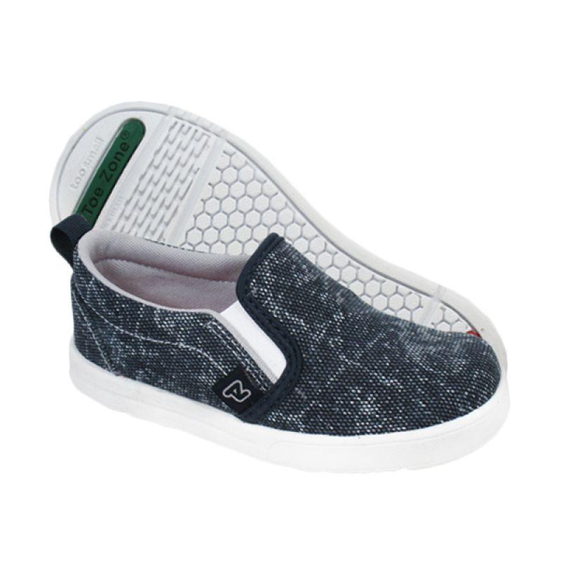 ToeZone Kids Heston Navy Grey Sepatu Anak Laki-laki