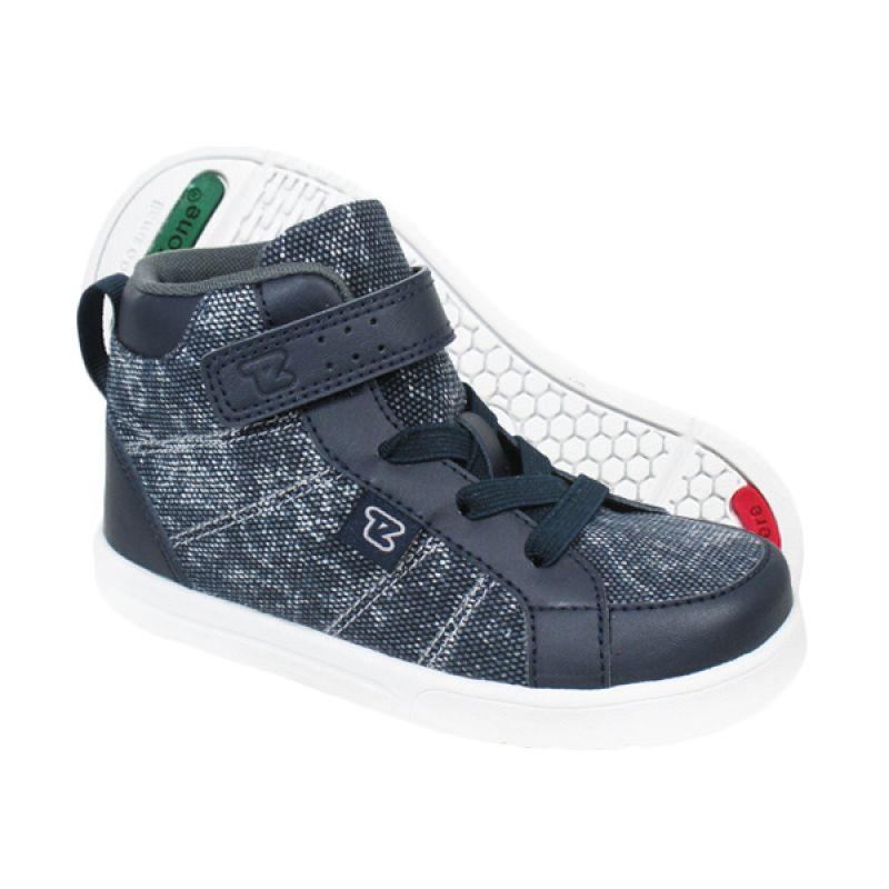 ToeZone Kids Hoffman Navy Grey Sepatu Anak Laki-laki