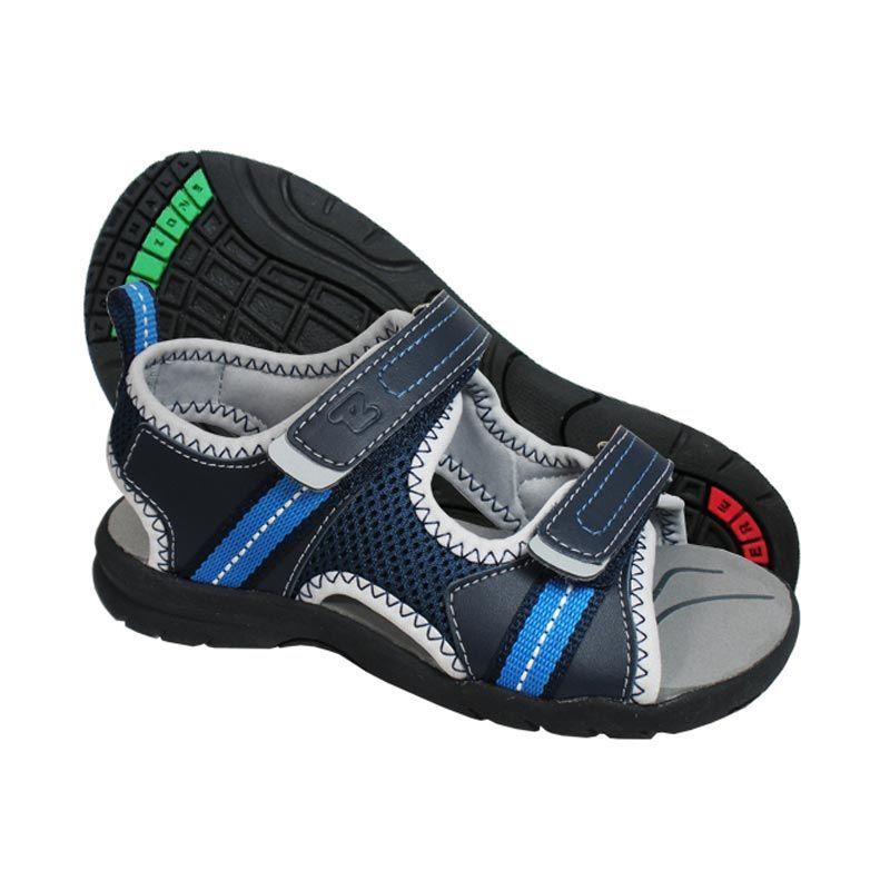 ToeZone Kids Jenner Navy Grey Sepatu Sandal Anak Laki-laki