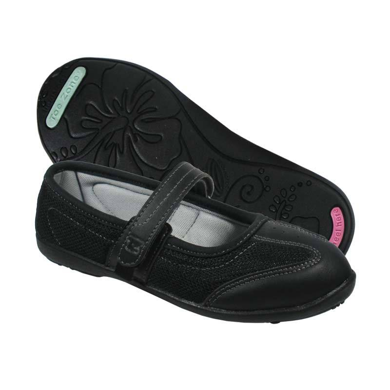 Toezone Kids Monroe F4 Black Black Sepatu Anak