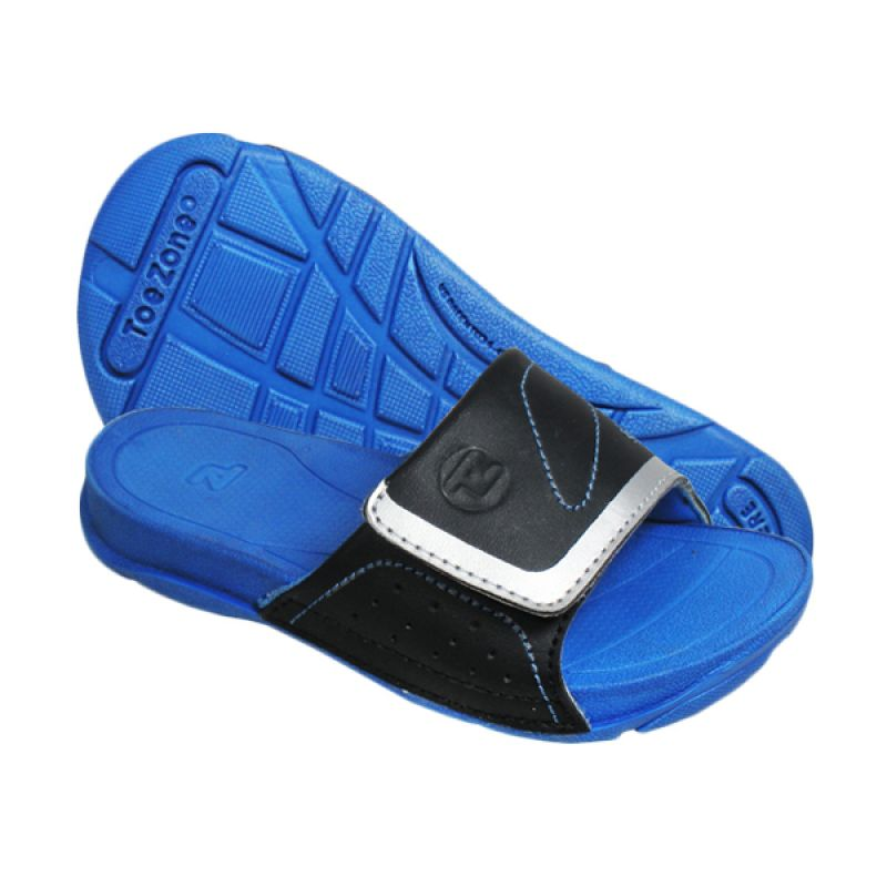 ToeZone Kids Moyo Black Blue Sandal Anak
