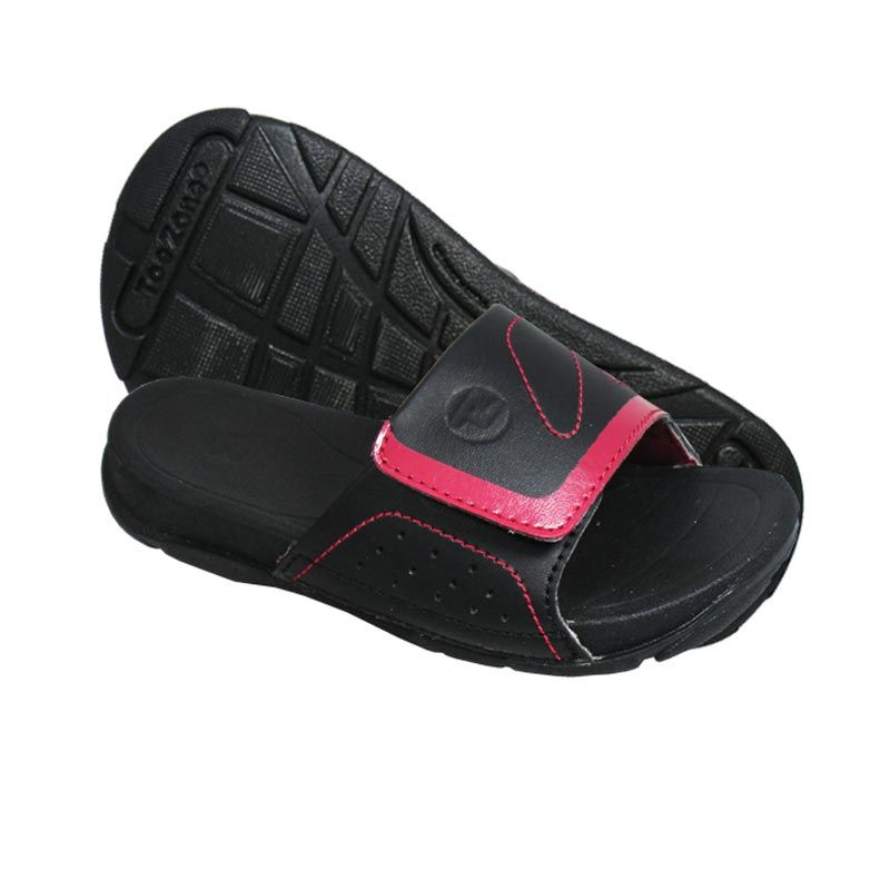ToeZone Kids Moyo Black Red Sandal Anak