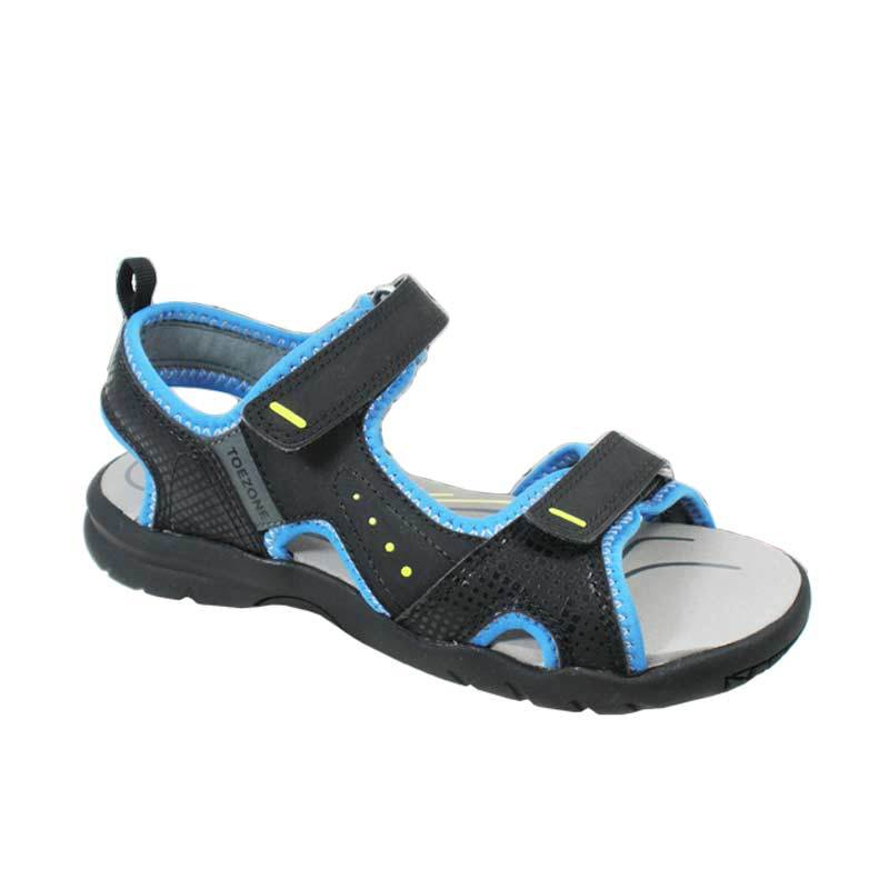 ToeZone Kids Omaha Black Blue Sepatu Sandal Anak Laki-laki