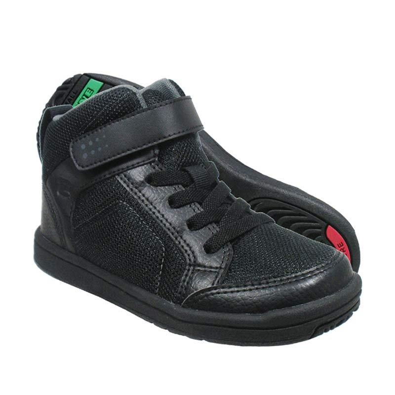 ToeZone Kids Orville F4 Black Black Sepatu Anak