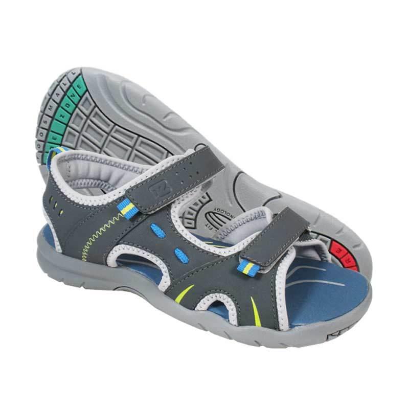 ToeZone Kids Utah Charcoal Lime Sepatu Sandal Anak Laki-laki