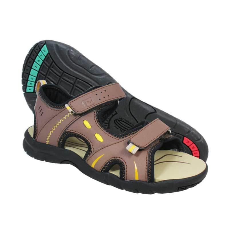 ToeZone Kids Utah Lite Brown Black Sepatu Sandal Anak Laki-laki