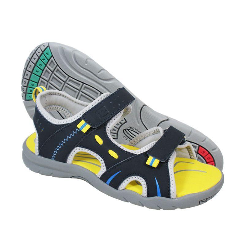 ToeZone Kids Utah Navy Blue Sepatu Sandal Anak Laki-laki