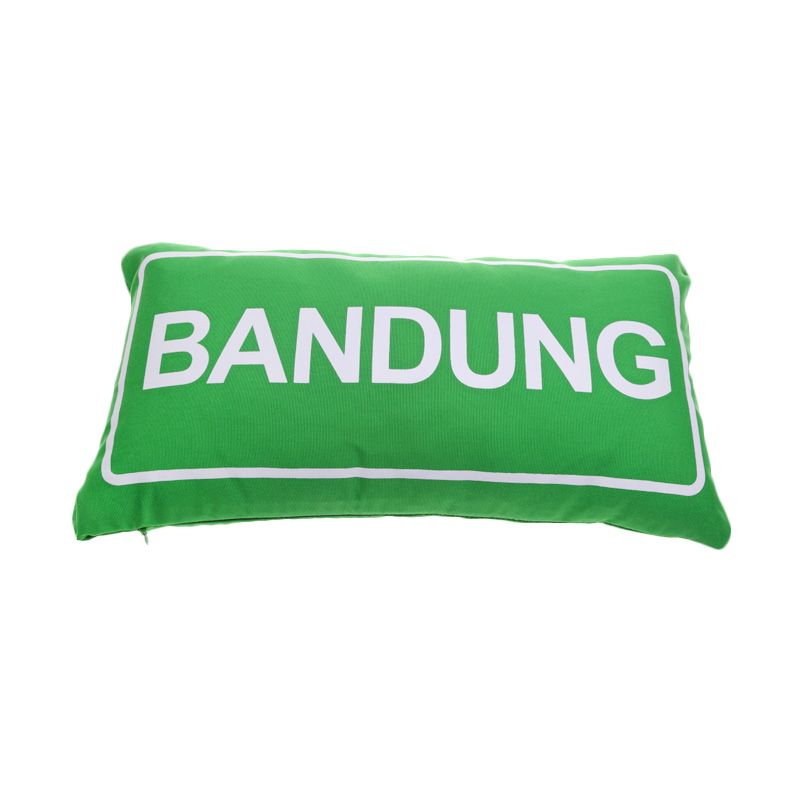 Toimoi Street Sign Pillow Bandung Hijau Bantal