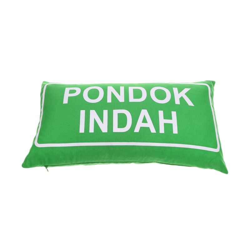 Toimoi Street Sign Pillow Pondok Indah Hijau Bantal