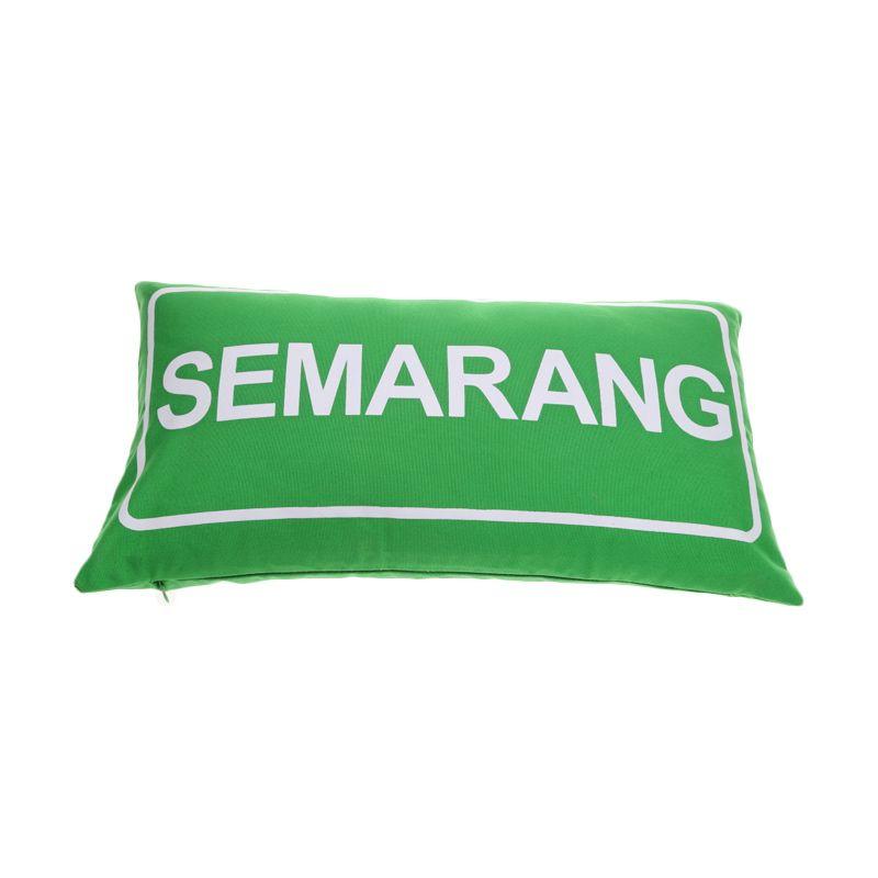 Toimoi Street Sign Pillow Semarang Hijau Bantal