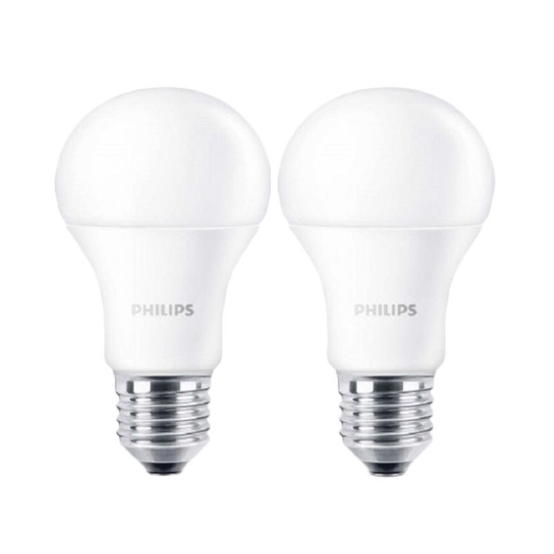 Philips Bulb A60 Putih Lampu LED [7 Watt/2 Buah]