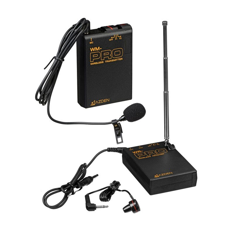 Azden WLX-PRO VHF Wireless Lavalier Microphone System [F1 or F2 Frequencies]
