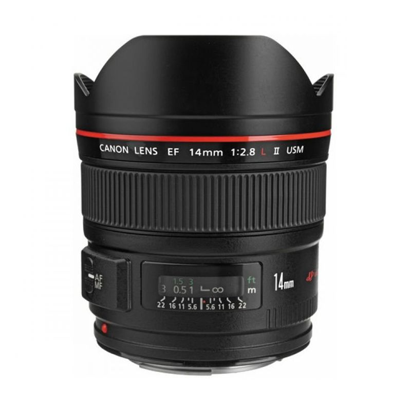 Canon EF 14mm f/2.8L II USM Black Lensa Camera