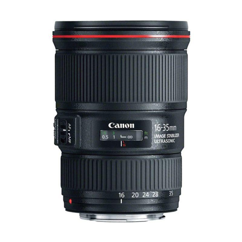Canon EF 16-35mm F/4.0 L IS USM Hitam Lensa Kamera