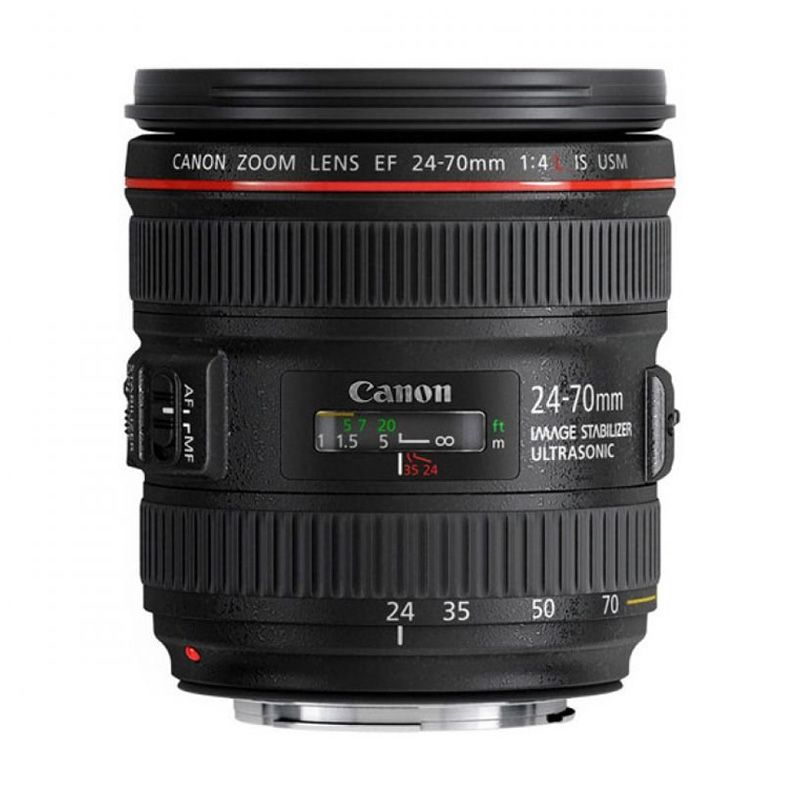 Canon EF 24-70mm f/4L IS USM Hitam Lensa Kamera