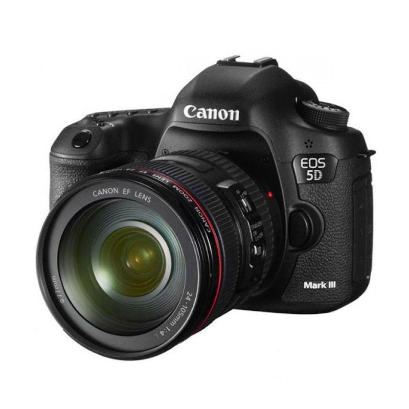 Canon EOS 5D Mark III Lensa Kit 24-105mm Hitam Kamera DSLR