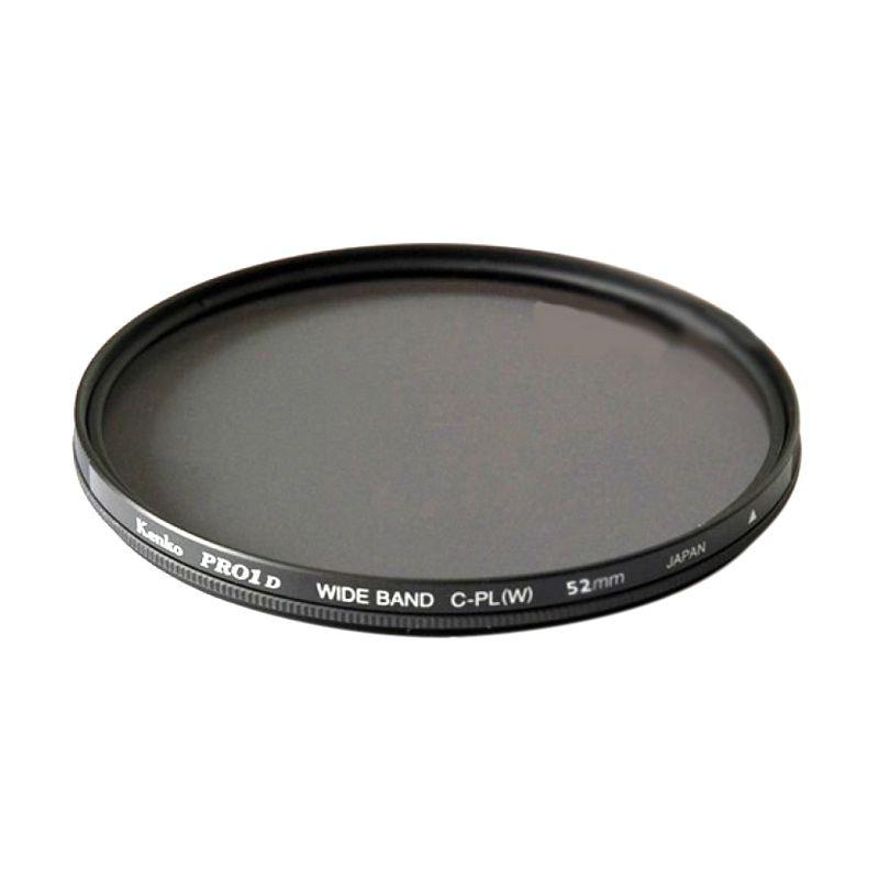 Kenko PRO1 Digital Wideband Circular PL (W) 62mm Hitam Filter Lensa