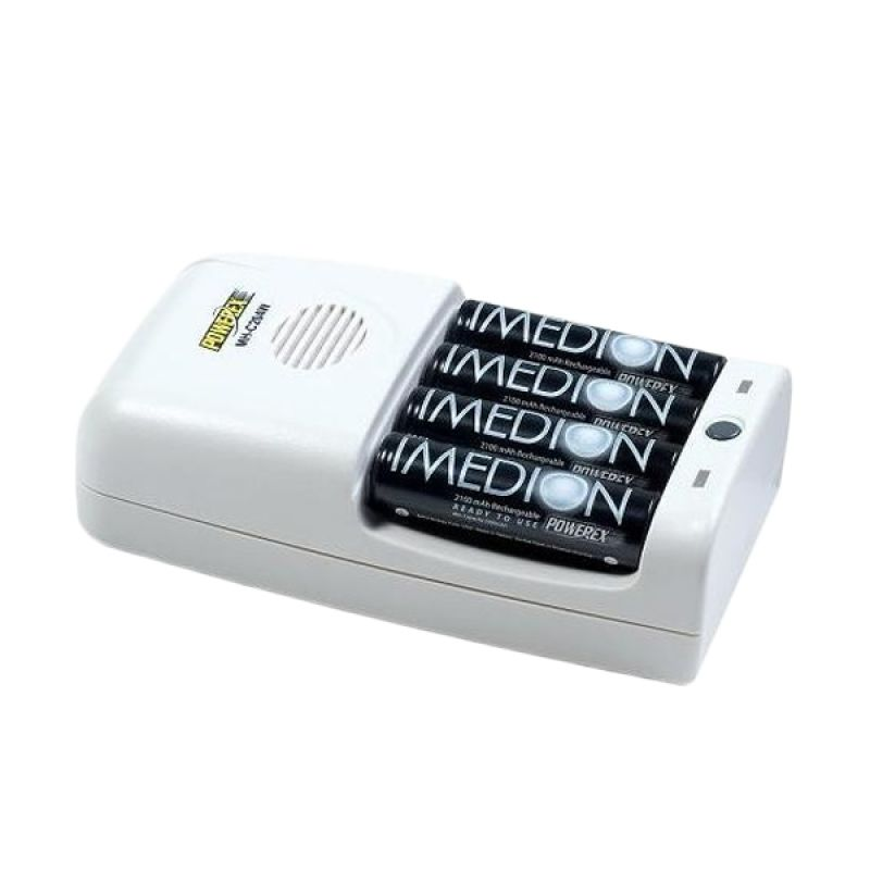 MAHA Powerex MH-C204W Smart Charger [4 AA Imedion 2400 mAh Included]