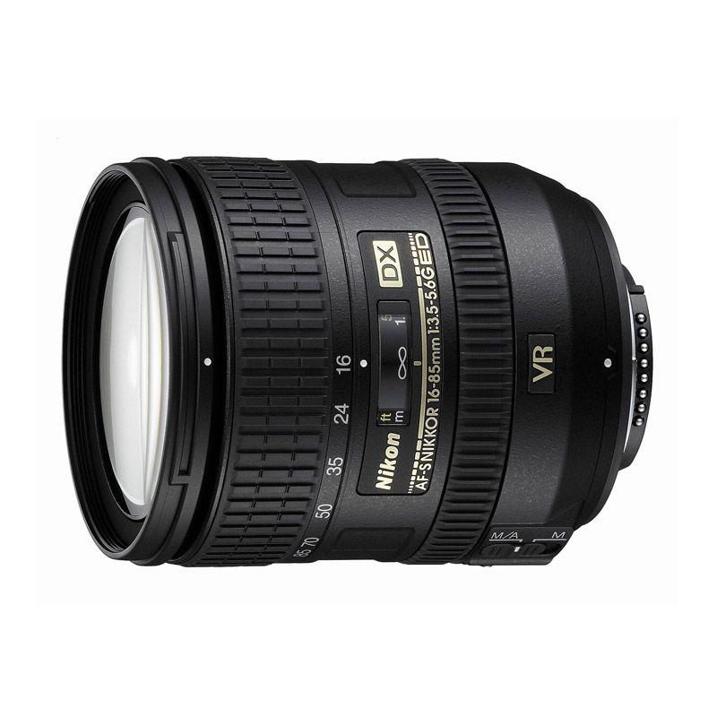 Nikon AF-S 16-85mm f/3.5-5.6G ED DX VR Black Lensa Kamera