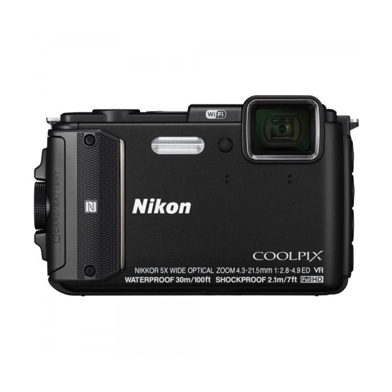 Nikon Coolpix AW130 Hitam Kamera Pocket [Kedalaman Air 30m]