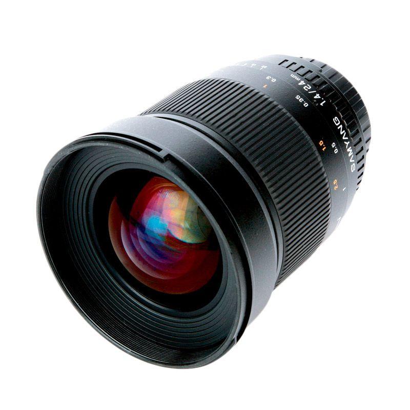 Samyang For Canon 24mm F/1.4 ED UMC Hitam Lensa Kamera