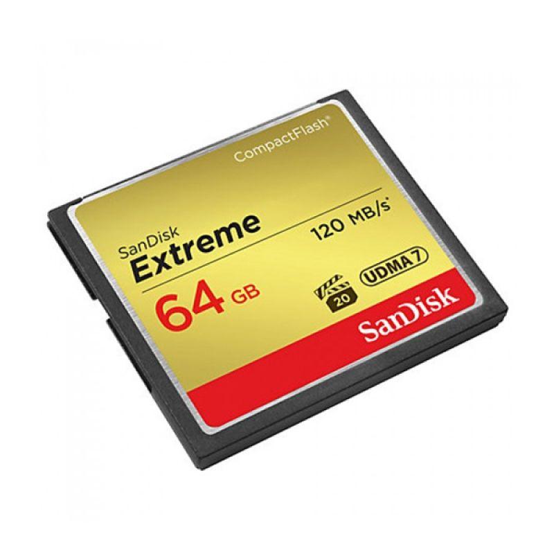 harga Sandisk CF Extreme UDMA7 Memory Card [64GB/120Mbps] Blibli.com