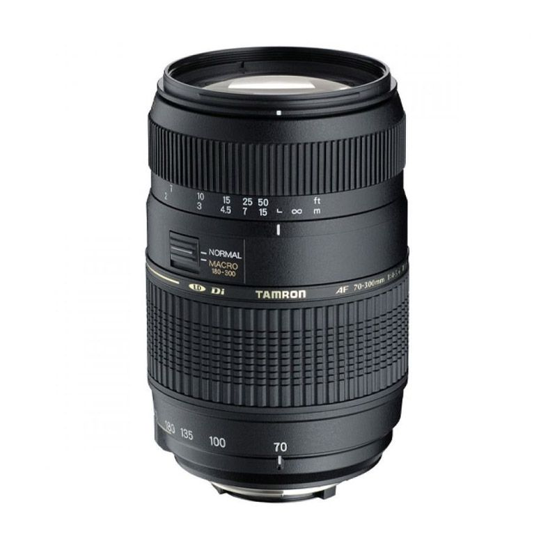 Tamron AF 70-300mm F/4-5.6 Di LD Tele-Macro Hitam Lensa Kamera for Nikon
