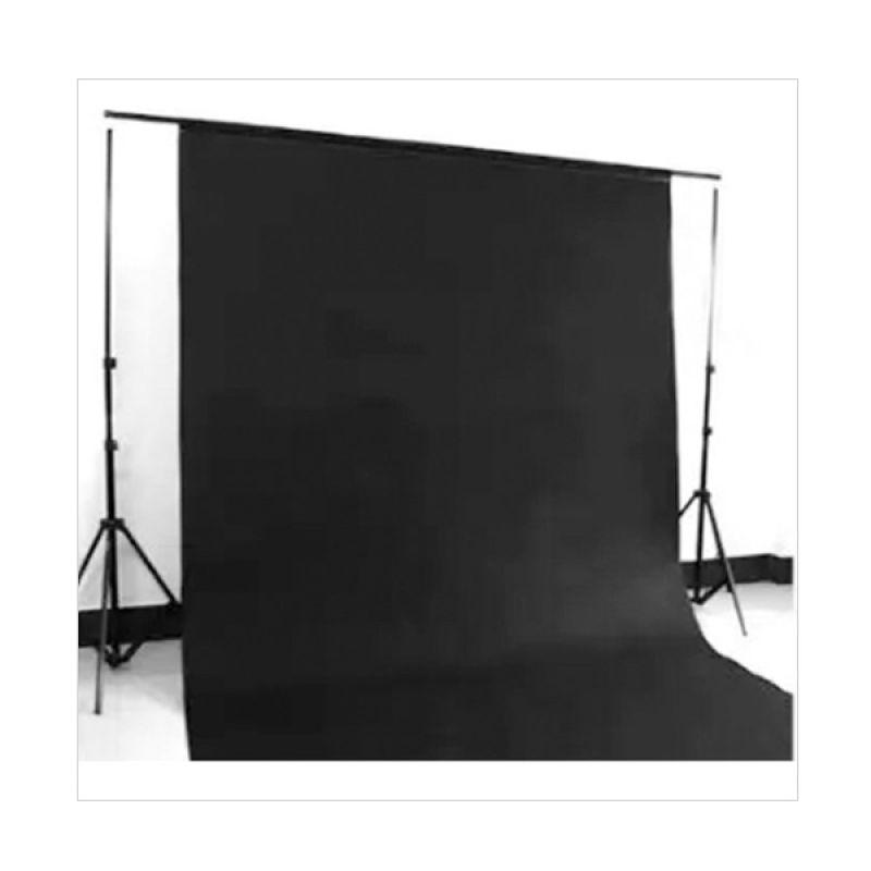 Tokocamzone Non Woven Polos Hitam Photo Background [3x6 m]