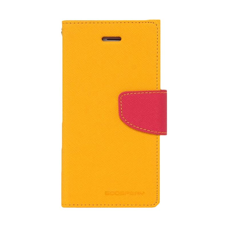 Mercury Goospery Fancy Diary Yellow Hot Pink Flip Cover Casing for Nokia XL