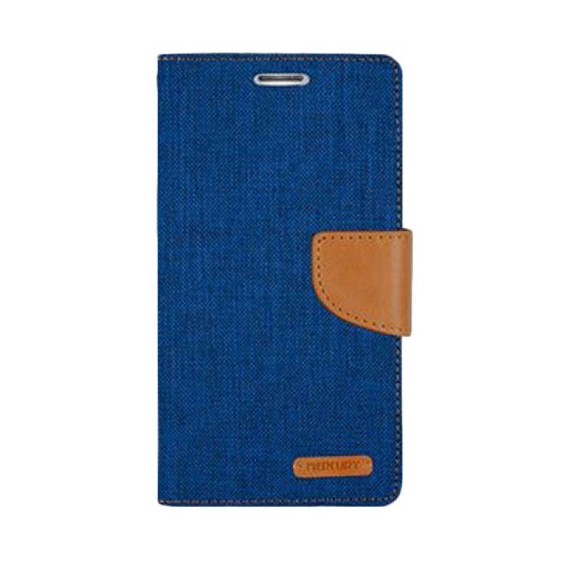 Mercury Goospery Canvas Diary Blue Casing for Asus Zenfone 5