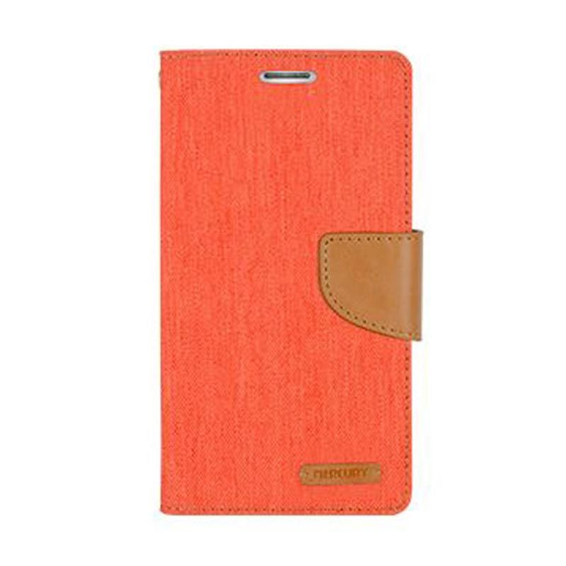 Mercury Goospery Canvas Diary Orange Casing for Samsung Galaxy Grand Prime